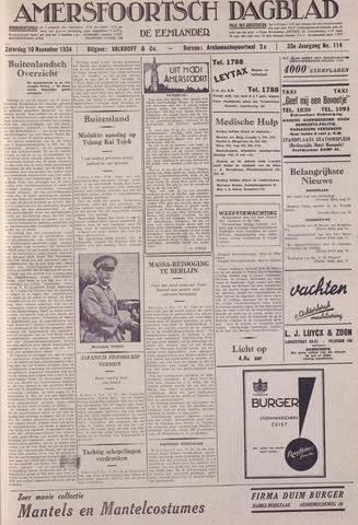 Amersfoortsch Dagblad / De Eemlander 1934-11-10
