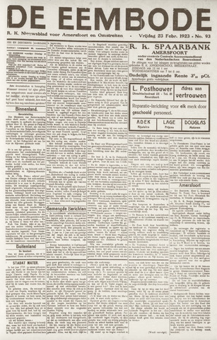 De Eembode 1923-02-23