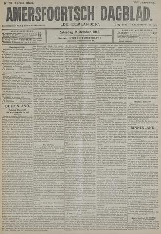 Amersfoortsch Dagblad / De Eemlander 1915-10-02
