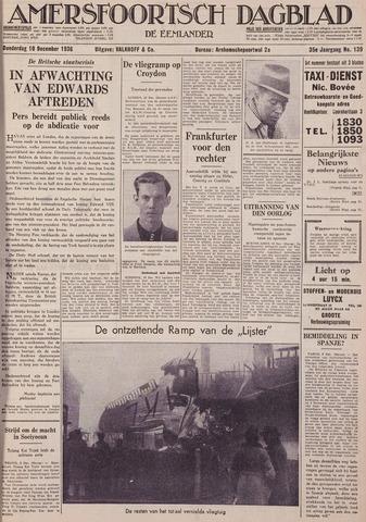 Amersfoortsch Dagblad / De Eemlander 1936-12-10
