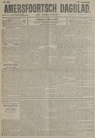 Amersfoortsch Dagblad / De Eemlander 1916-03-10