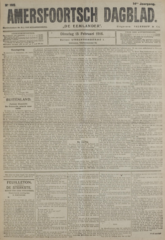 Amersfoortsch Dagblad / De Eemlander 1916-02-15