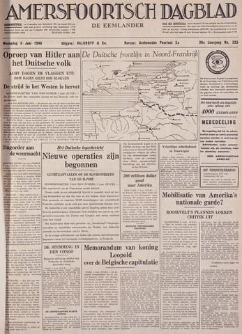Amersfoortsch Dagblad / De Eemlander 1940-06-05