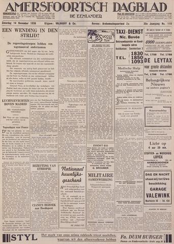 Amersfoortsch Dagblad / De Eemlander 1936-11-14