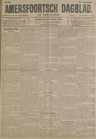 Amersfoortsch Dagblad / De Eemlander 1916-01-20