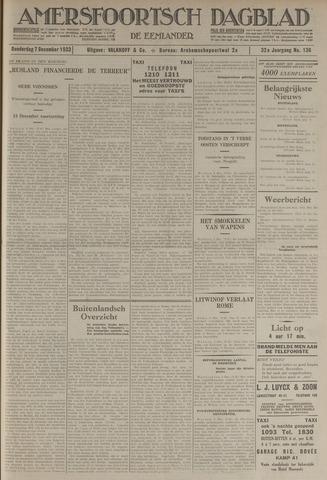 Amersfoortsch Dagblad / De Eemlander 1933-12-07