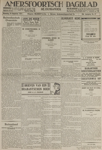 Amersfoortsch Dagblad / De Eemlander 1931-08-24