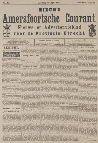 Nieuwe Amersfoortsche Courant 1911-04-29