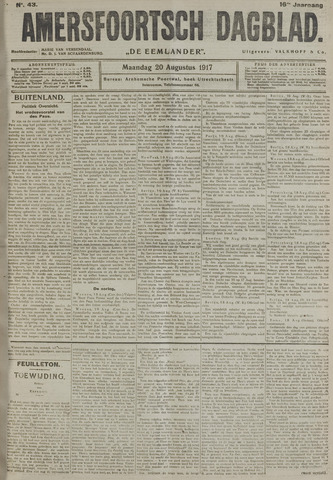 Amersfoortsch Dagblad / De Eemlander 1917-08-20