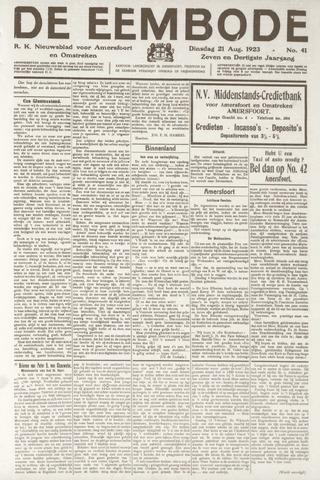 De Eembode 1923-08-21