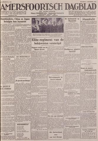 Amersfoortsch Dagblad / De Eemlander 1941-12-01