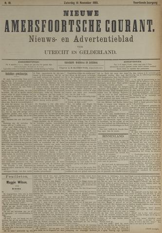 Nieuwe Amersfoortsche Courant 1885-11-14