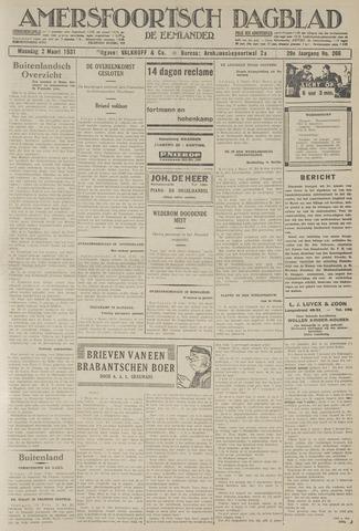 Amersfoortsch Dagblad / De Eemlander 1931-03-02
