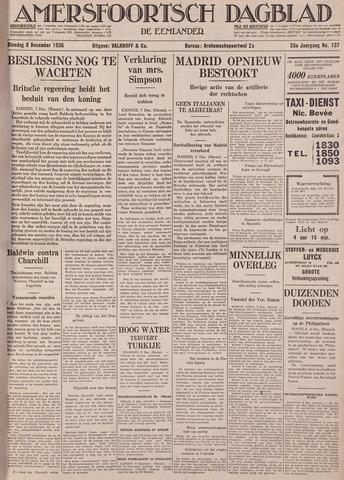Amersfoortsch Dagblad / De Eemlander 1936-12-08