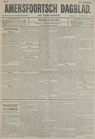 Amersfoortsch Dagblad / De Eemlander 1914-07-13