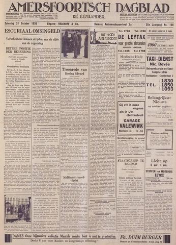Amersfoortsch Dagblad / De Eemlander 1936-10-31