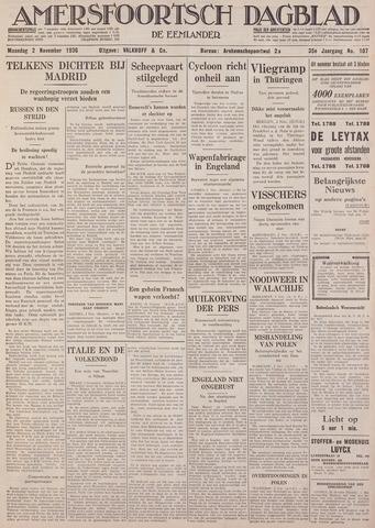 Amersfoortsch Dagblad / De Eemlander 1936-11-02
