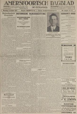 Amersfoortsch Dagblad / De Eemlander 1931-10-14