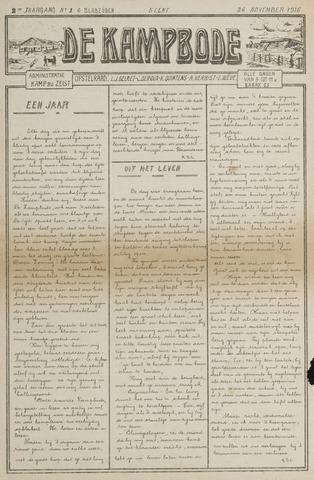 De Kampbode 1916-11-26