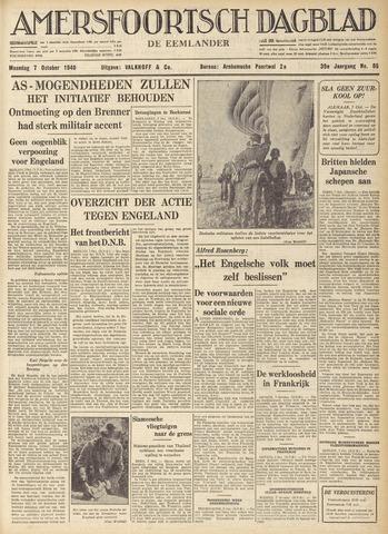 Amersfoortsch Dagblad / De Eemlander 1940-10-07