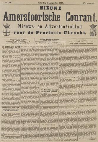 Nieuwe Amersfoortsche Courant 1918-08-03