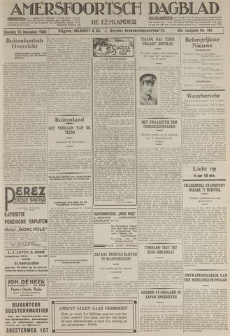 Amersfoortsch Dagblad / De Eemlander 1931-12-15