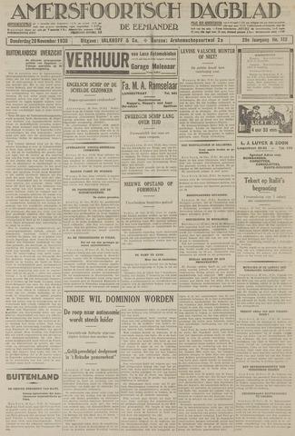Amersfoortsch Dagblad / De Eemlander 1930-11-20