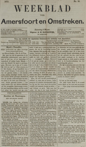 Weekblad voor Amersfoort en Omstreken 1872-03-02