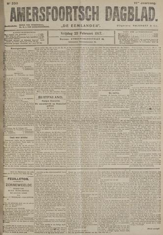 Amersfoortsch Dagblad / De Eemlander 1917-02-23
