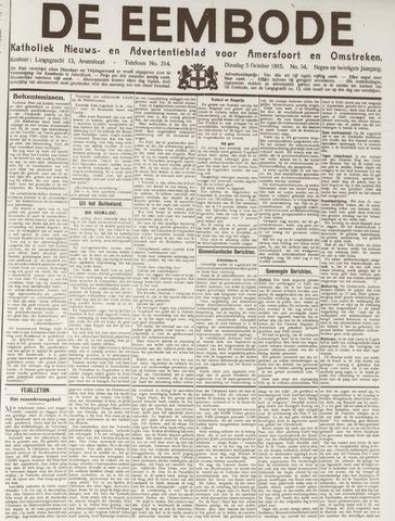 De Eembode 1915-10-05