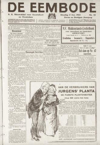 De Eembode 1923-10-02