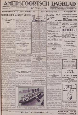 Amersfoortsch Dagblad / De Eemlander 1935-04-13
