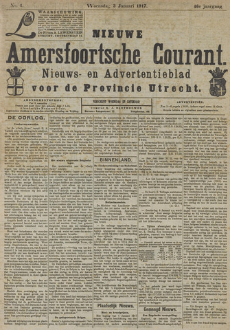 Nieuwe Amersfoortsche Courant 1917-01-03