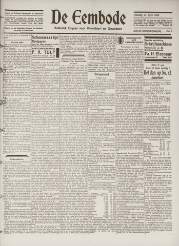 De Eembode 1934-04-24
