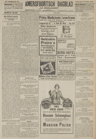 Amersfoortsch Dagblad / De Eemlander 1925-10-10