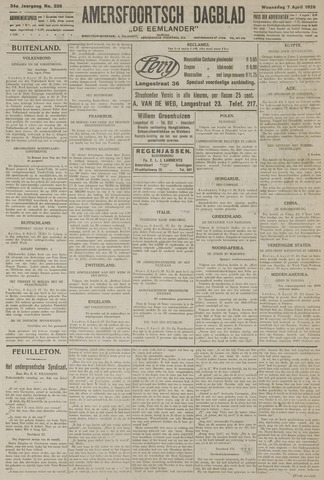 Amersfoortsch Dagblad / De Eemlander 1926-04-07