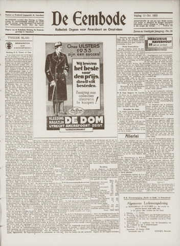 De Eembode 1933-10-13