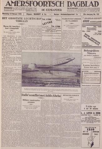 Amersfoortsch Dagblad / De Eemlander 1935-02-13