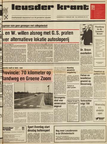 Leusder Krant 1985-02-21