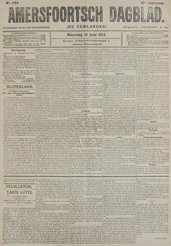 Amersfoortsch Dagblad / De Eemlander 1914-06-15