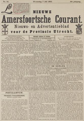 Nieuwe Amersfoortsche Courant 1915-07-07