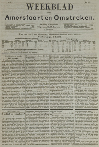 Weekblad voor Amersfoort en Omstreken 1878-08-03