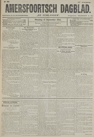 Amersfoortsch Dagblad / De Eemlander 1914-09-15