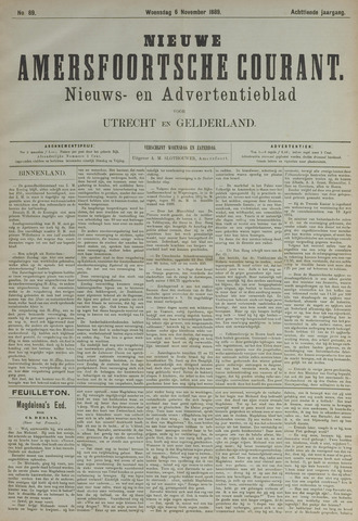Nieuwe Amersfoortsche Courant 1889-11-06