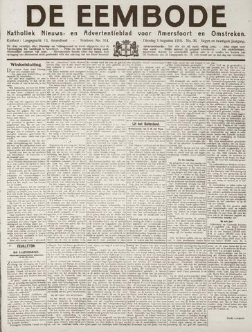 De Eembode 1915-08-03