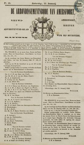 Arrondissementsbode van Amersfoort 1849-01-13