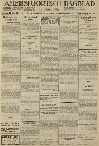 Amersfoortsch Dagblad / De Eemlander 1932-03-22