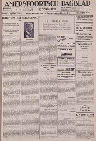 Amersfoortsch Dagblad / De Eemlander 1934-09-11