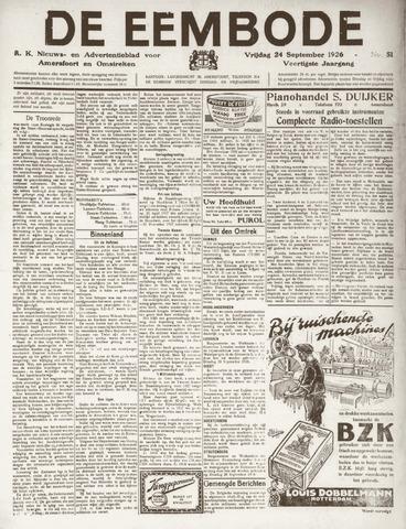De Eembode 1926-09-24