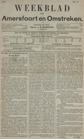 Weekblad voor Amersfoort en Omstreken 1873-06-14